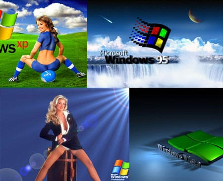 Обои в стиле Windows 95, Windows 98, Windows XP